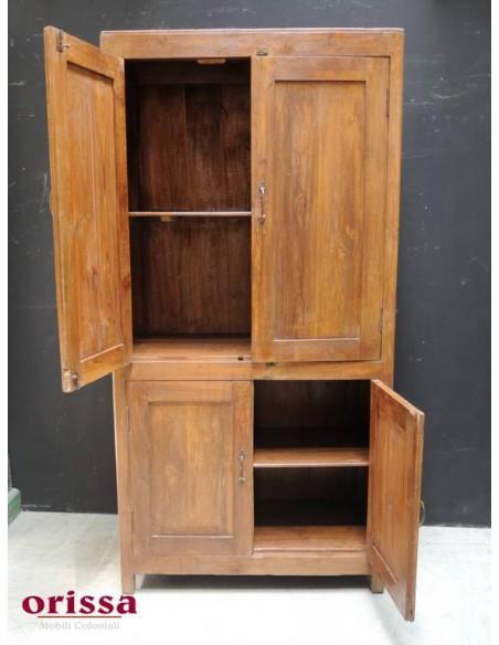 Armadio in legno di teak epoca coloniale