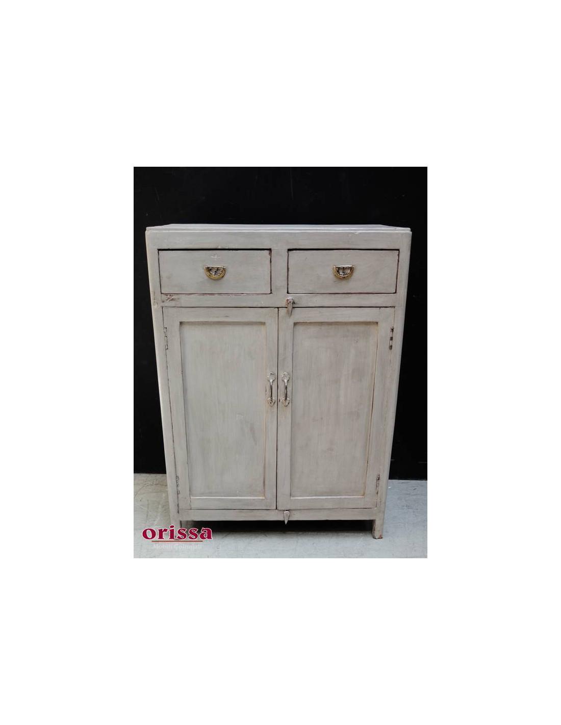 Credenza legno colore grigio decapato stile provenzale MC70 - Orissa ...