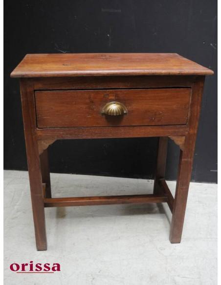 Scrivania con cassetto legno di teak coloniale