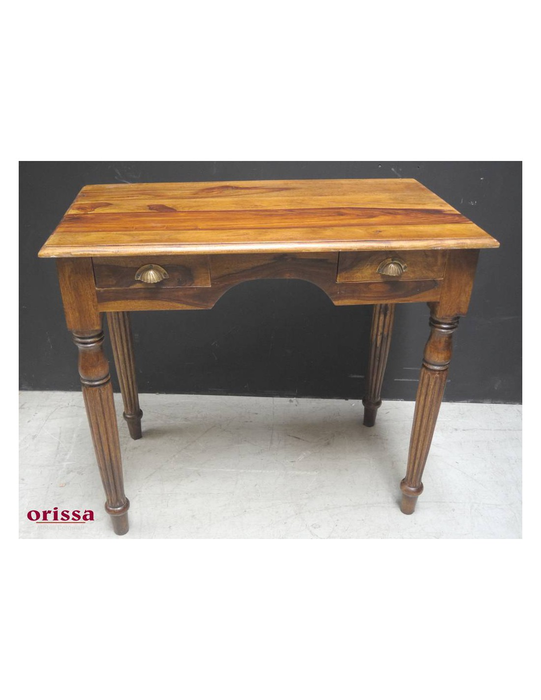 Scrivania legno massello con cassettini OR239 - Orissa Milano