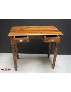 Scrivania legno massello con cassettini