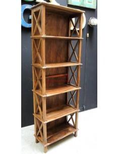 Scaffale legno massello altezza 180cm