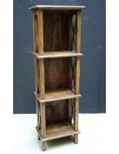 Scaffale legno massello altezza 120cm