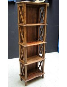 Scaffale legno massello altezza 152cm