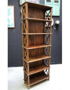 Scaffale legno massello altezza 214cm