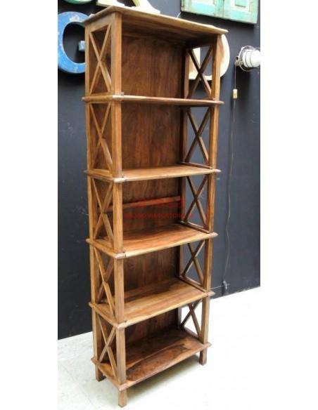Scaffale legno massello altezza 170cm