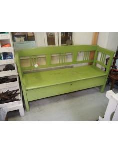 Imagén: Panca con cassetto legno massello colore verde