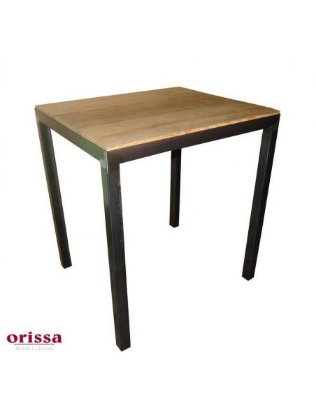 Tavolo bistrot industrial ferro e legno