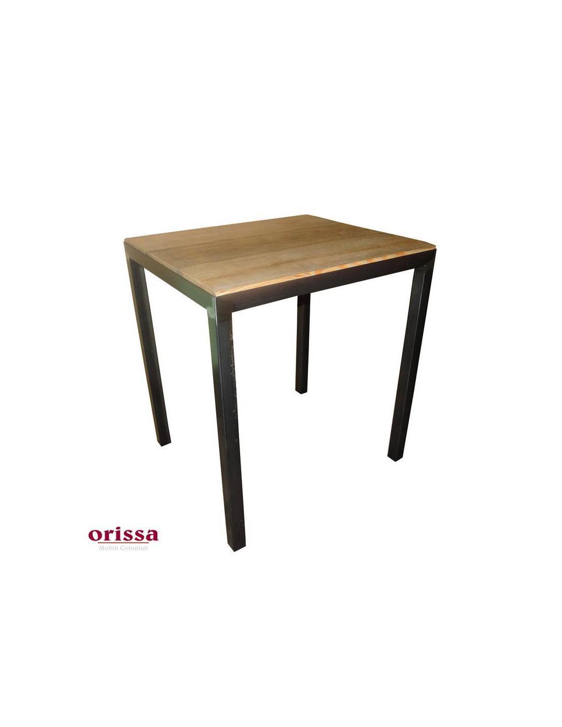 tavolo bistrot stile industrial legno e ferro - Orissa Milano