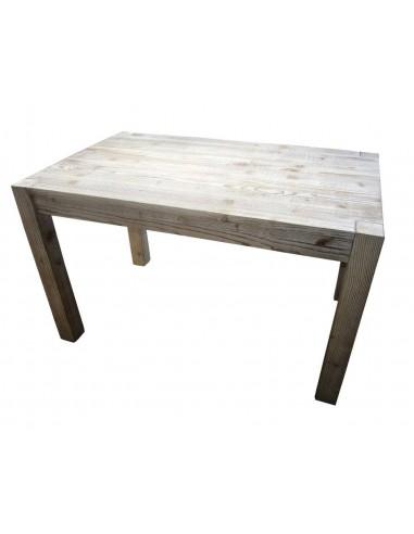 Tavolo legno massello pino spazzolato e sbiancato OMS584 130cm ...