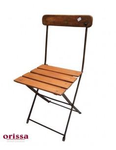 Imagén: Sedia pieghevole ferro legno