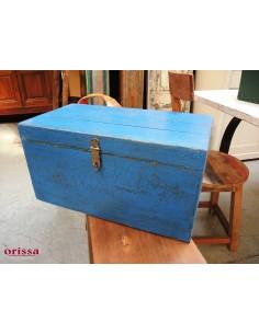 Bauletto legno blu shabby