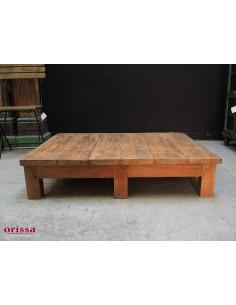 Tavolo basso in legno di teak a forma di pallet
