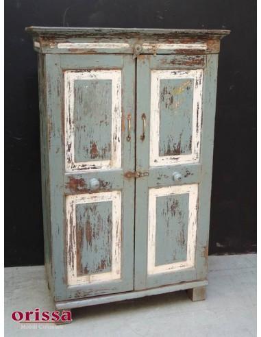 Armadio legno colorato stile shabby