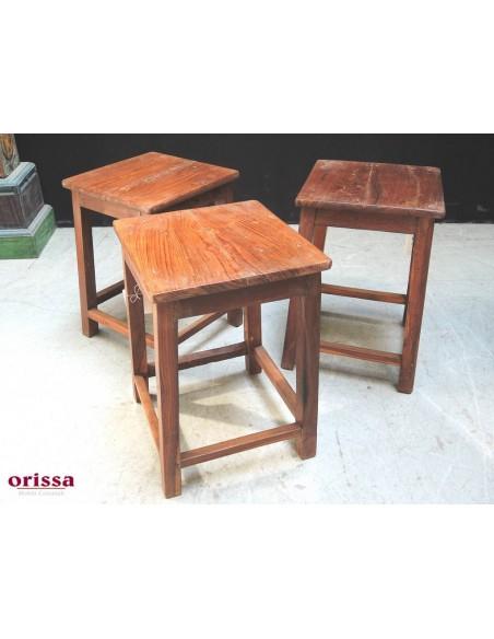 Sgabello in legno di teak