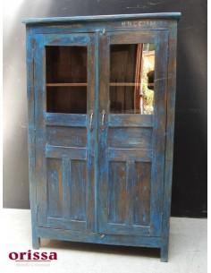 Vetrina coloniale colore blu