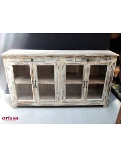 vetrina bassa legni di recupero