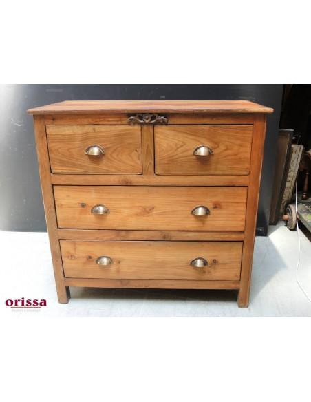 Cassettiera coloniale legno di teak