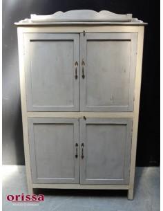 Credenza legno massello grigio/crema