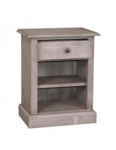Comodino legno con cassetti e ripiano