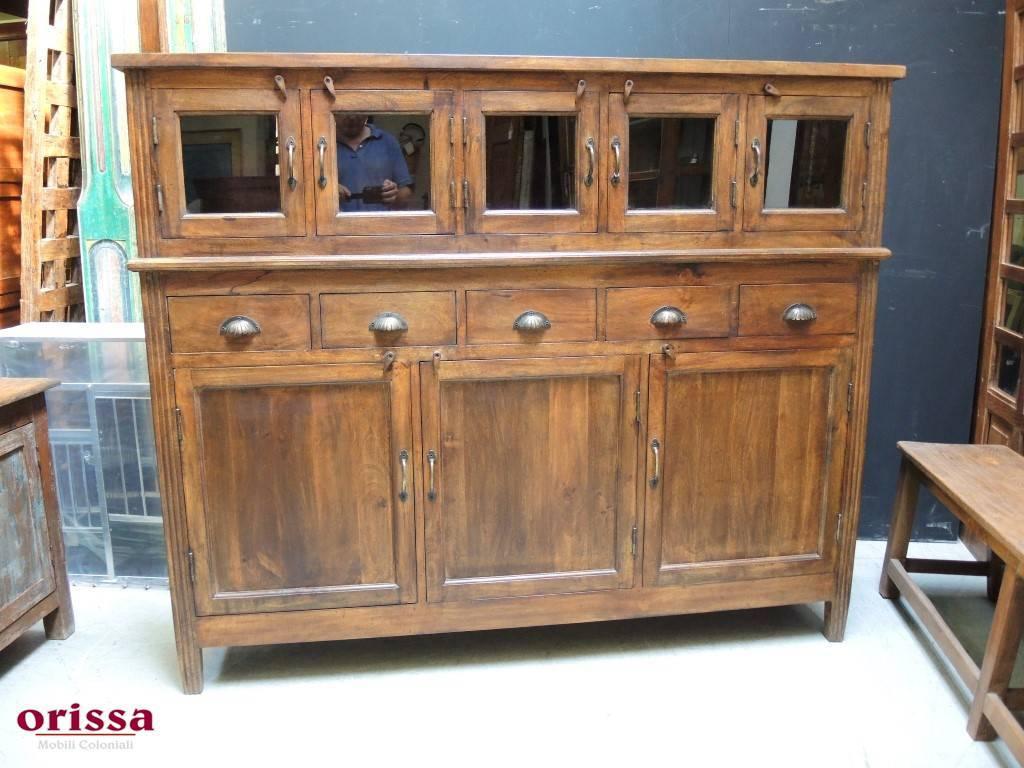 Credenza Con Maioliche : Credenza legno massello la coloniale or orissa milano