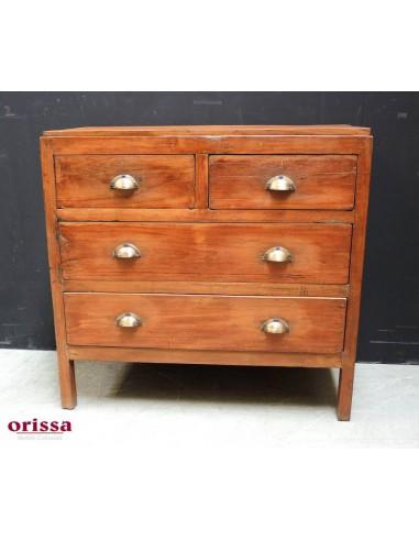 cassettiera coloniale legno di teak Q15 - Orissa Milano