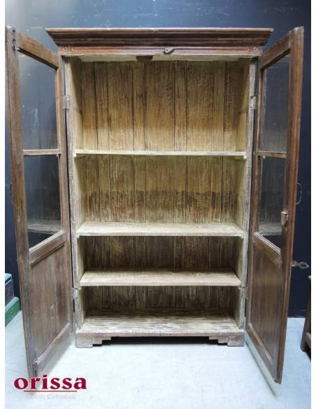 Vetrina in legno di teak sbiancato