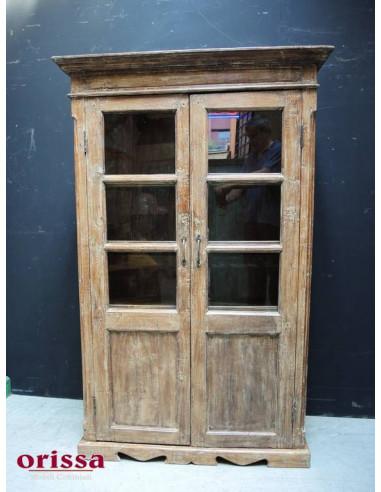 Vetrina coloniale in legno di teak