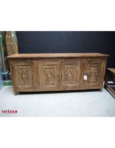 Buffet il legno di teak intagliato