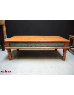 Tavolo da salotto etnico in legno di teak