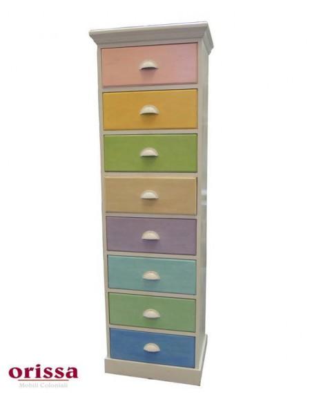 Cassettiera settimanale multicolor