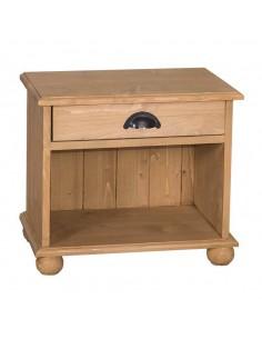 Imagén: Comodino legno con cassetti e vano aperto