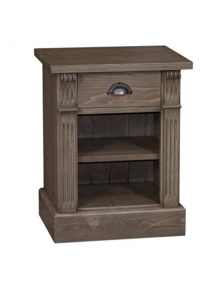 Comodino legno con cassetto e ripiano