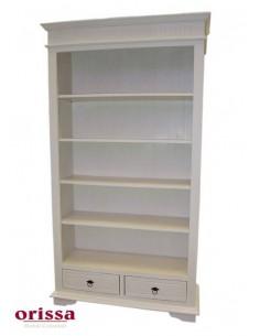 Libreria bianco decapato