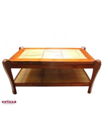 Tavolo legno e bamboo
