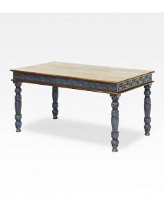 Imagén: Tavolo indiano intagliato colore blu