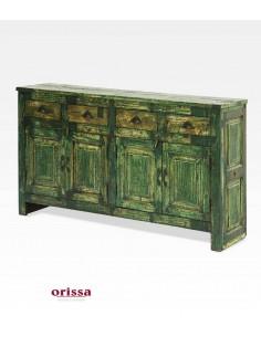 Credenza il legno colore verde