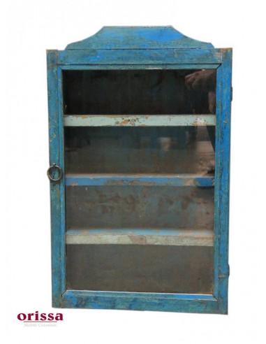 Vetrinette Pensili Legno.Vetrinetta Pensile Colore Blu