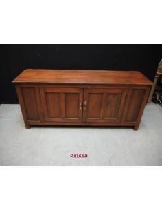 Porta Tv legno di teak coloniale