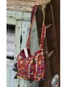 Borsa etnica indiana con specchietti