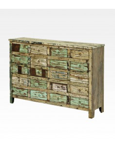 Cassettiera recycled in legno