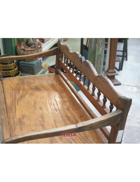 Panca coloniale in legno di teak