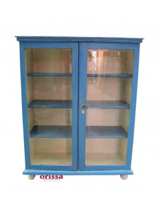 Vetrina vintage azzurra