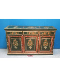 Credenza etnica decorata indiana