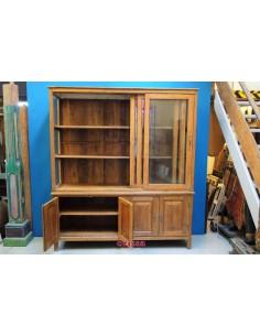 Vetrina biblioteca in legno di teak