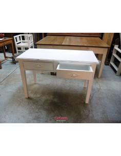 Scrivania legno bianco anticato
