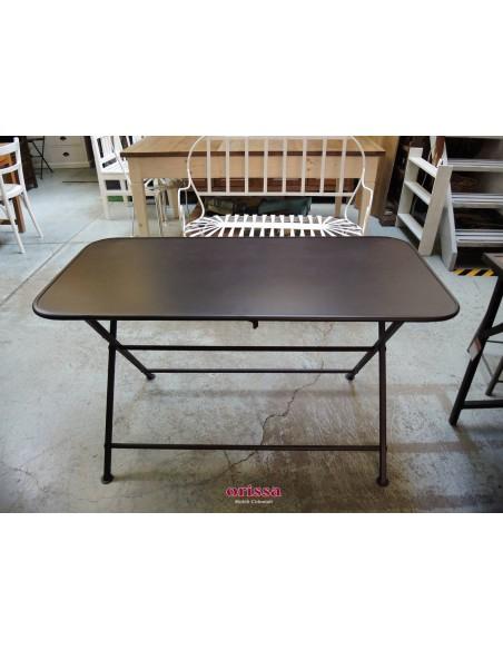Tavolo in ferro pieghevole