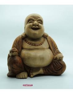 Imagén: Statua Buddha felice il legno H30cm