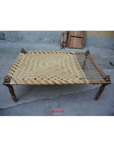 Charpoy:letto legno e corda