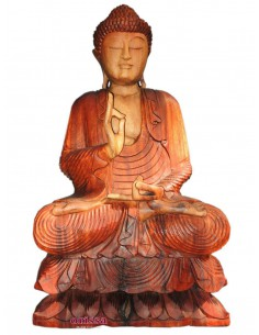 Imagén: Statua Buddha seduto in legno